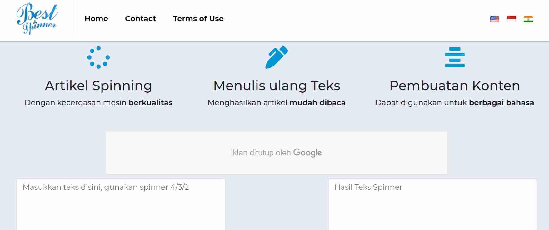 artikel spinner indonesia